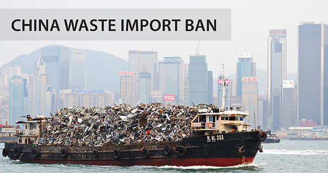 China Import Ban, Less Cash in Exported Trash